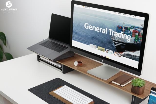 تصميم موقع الكتروني لشركة جي أيه أس للأستثمار في الإمارات - دبي